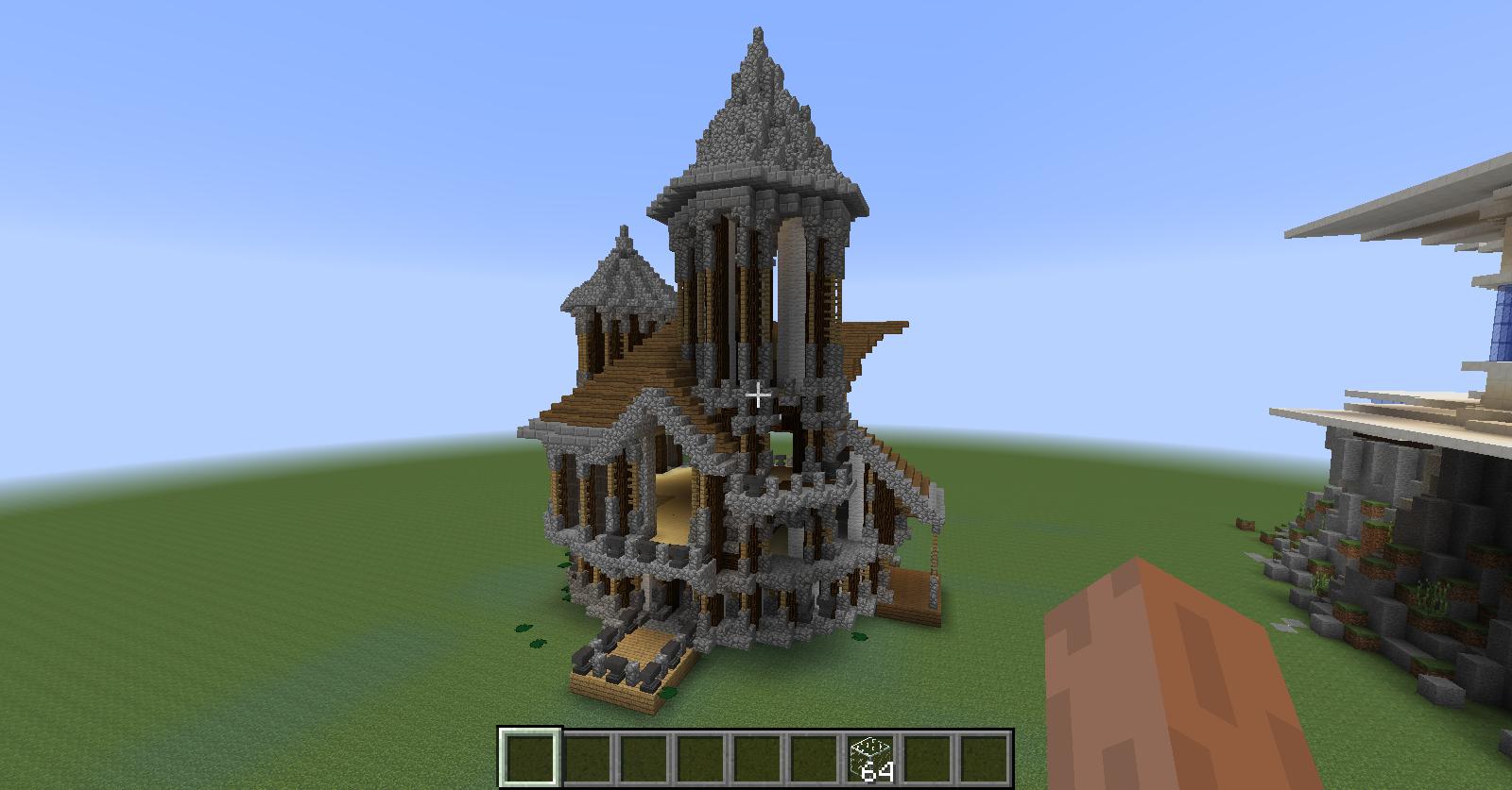 Casa futurista en la cima minecraft schematics for Minecraft casas de lujo